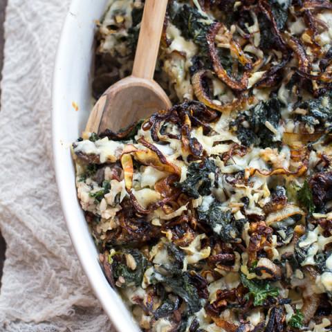 Kale and Wild Rice Casserole