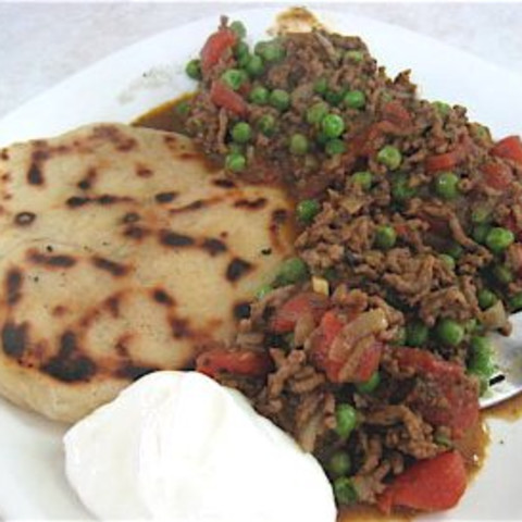 Keema Mattar Pilau (Mince Meat and Peas with Rice)