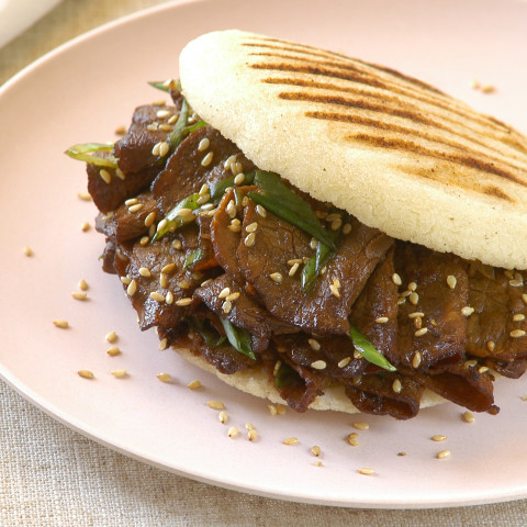 Korean Barbecue-Style Beef Arepas