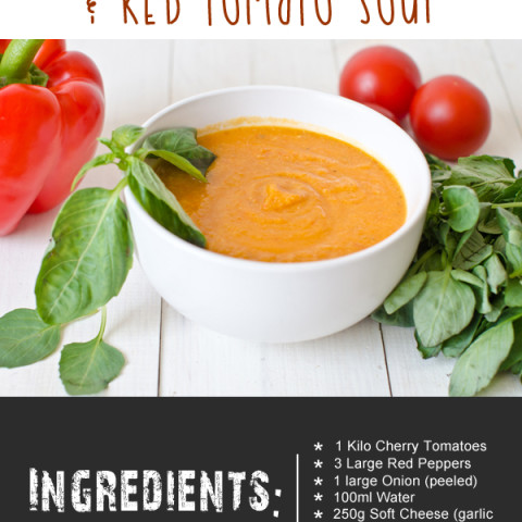 Lazy Soup Maker Red Pepper and Red Tomato Soup