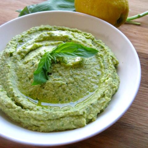 Lemon Basil Hummus