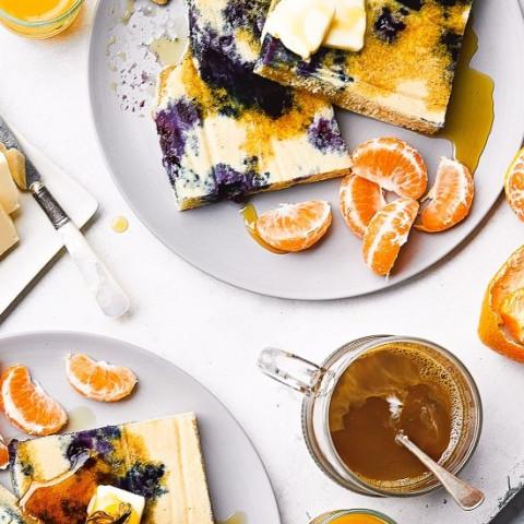 Lemon Blueberry Buttermilk Sheet Pan Pancakes