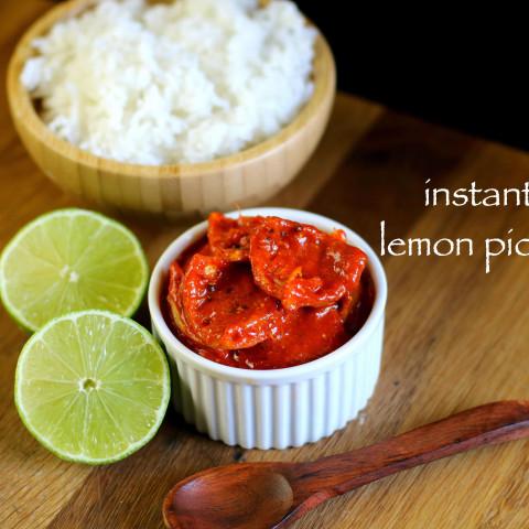 lemon pickle recipe | nimbu ka achar | instant lemon achar recipe