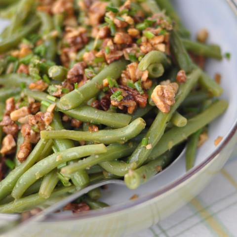 Lemon-Walnut Green Beans