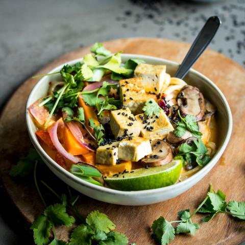 Lemongrass and Coconut Noodle Soup