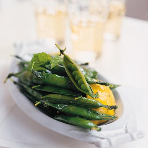 Lemony Green Peas in a Pod