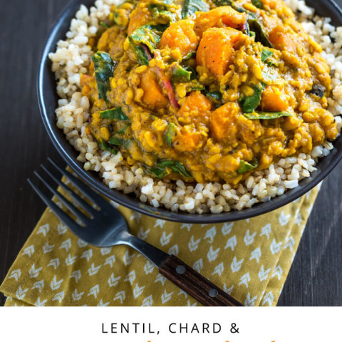 Lentil, Chard & Sweet Potato Curry