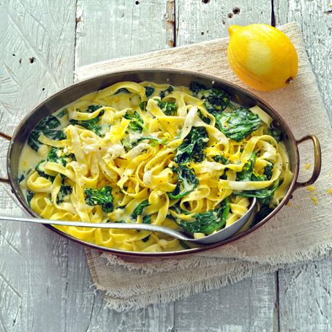 Lightened-Up Pasta Alfredo