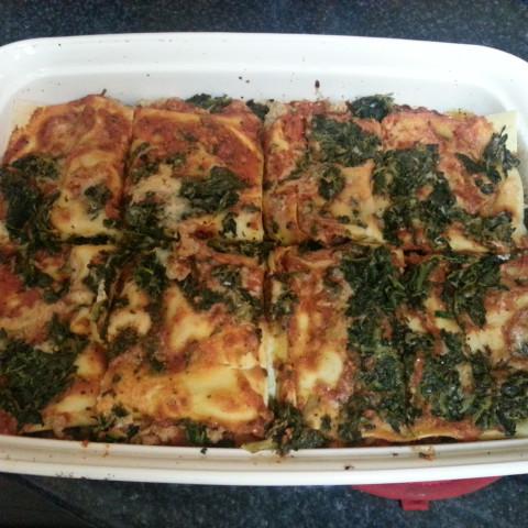 Low-Calorie Turkey-Spinach Lasagna