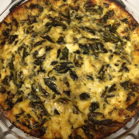 Low-Fat Spinach Feta Quiche