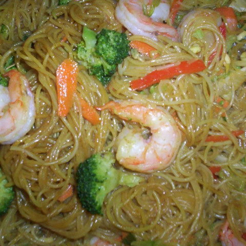 Mai Fun Noodles with Shrimp