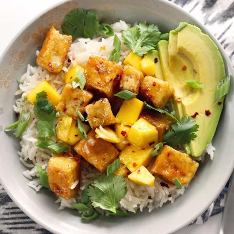 Mango Coconut Tofu Bowls