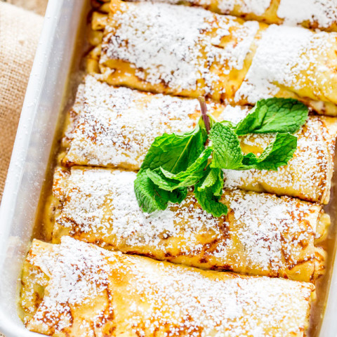 Maple Ricotta Stuffed Crepes