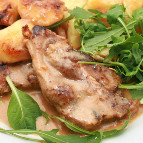 Marion's Butterfly Pork Chops and Gravy