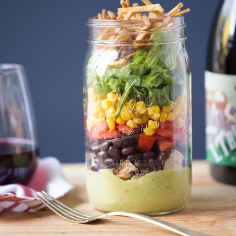 Mason Jar Mexican Salad