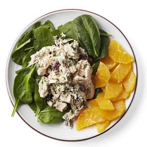 Mediterranean Tuna-Spinach Salad