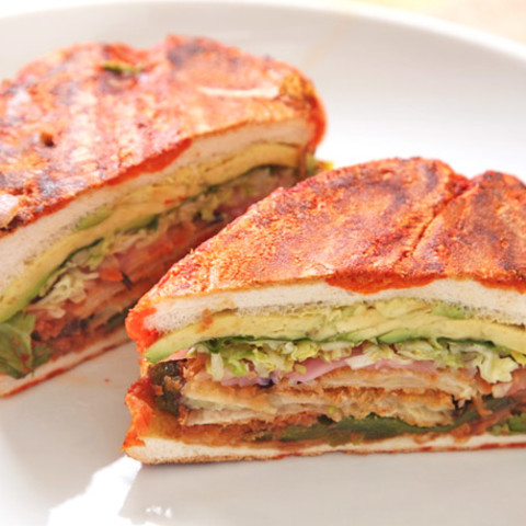 Mexican Fried Eggplant Sandwich (Vegan Tortas and Pambazos)