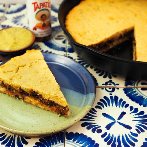 Mexican Tamale Pie (Tamal de Cazuela) With Black Bean Filling Recipe