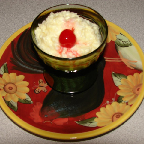 Microwave Old Fashioned Rice Pudding