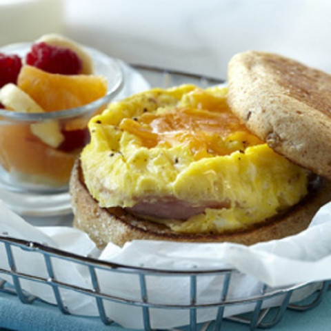Microwave Egg, Canadian Bacon & Cheese Muffin