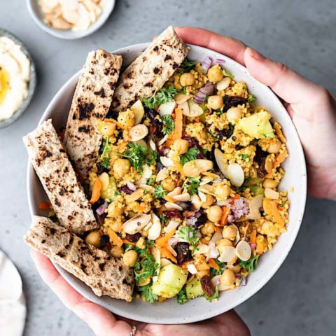 Moroccan Couscous Chickpea Salad