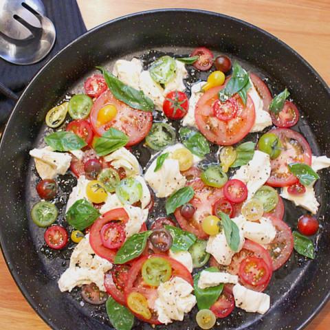 Mozzarella Tomato and Basil Salad
