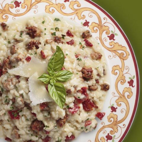 Northern Italian Sun-Dried Tomato & Italian Sausage Risotto