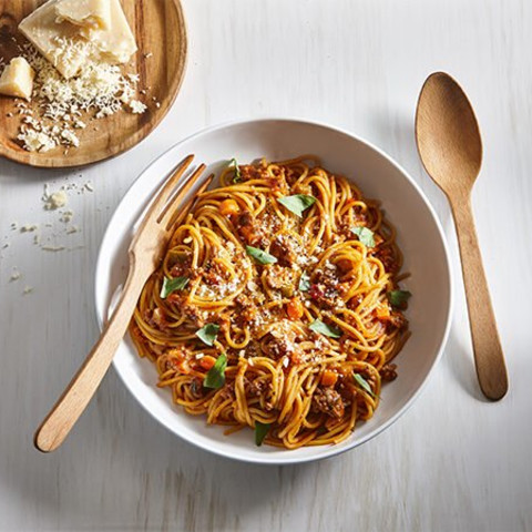 One-Pot Spaghetti with Maple Bolognese Sauce