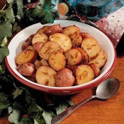 Onion-Roasted Potatoes Recipe