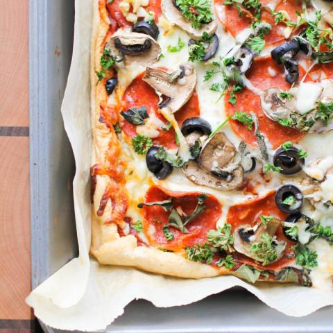 Open Face Oven Baked Omelette Pizza