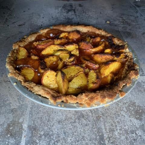 Open Top Peach Pie
