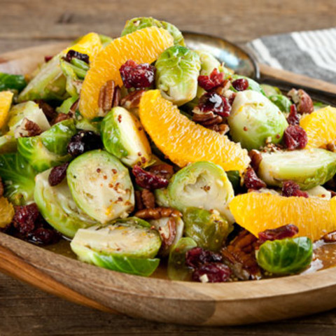 Orange & Brussels Sprouts Salad