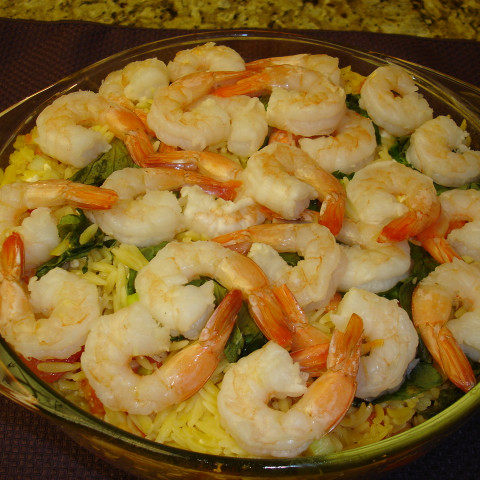 Orzo and Shrimp with Fresh Basil
