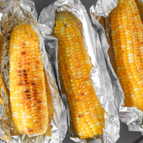 Oven-Roasted Corn on the Cob with Garlic Butter