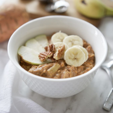 Paleo Sweet Potat-Oats Porridge