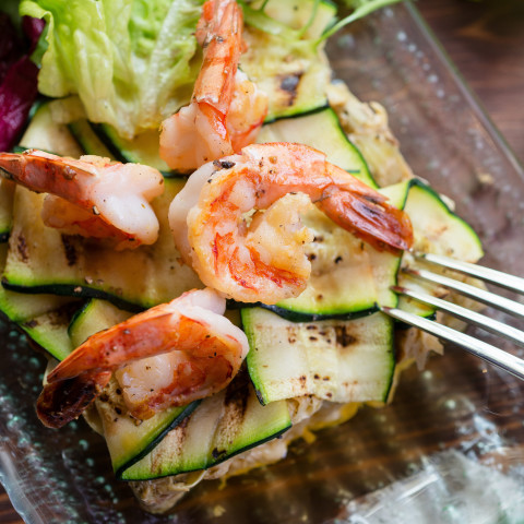 Pan Grilled Shrimp and Veggies