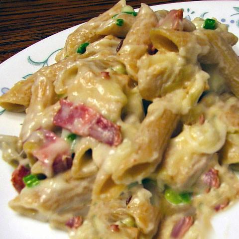 Pasta Chicken & Bacon Carbonara Casserole