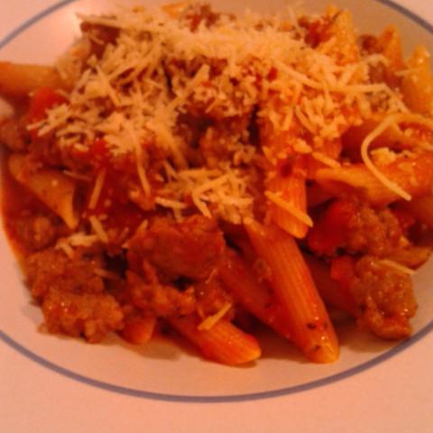 Pasta with Italian Sausage Marinara