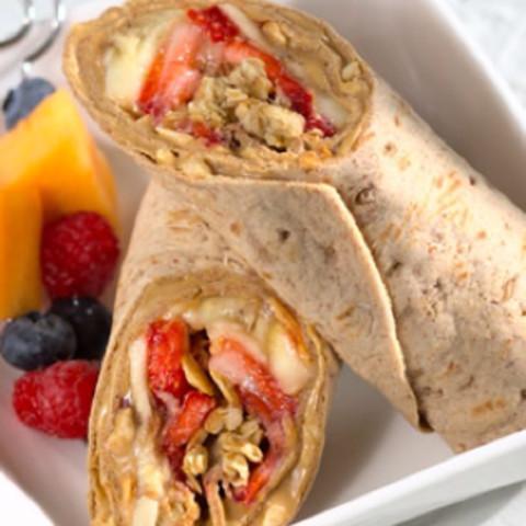 PB&J Breakfast Wrap