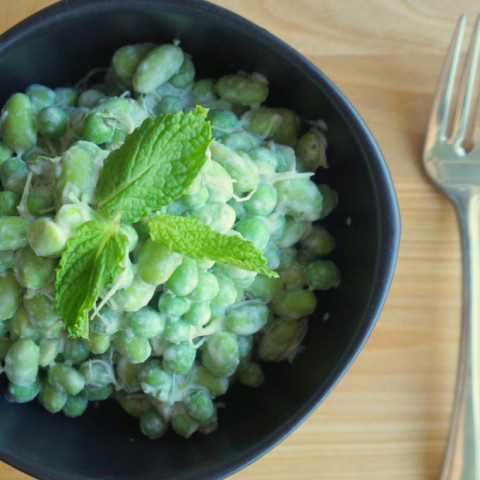 Pea & Edamame Salad with Mint Dressing
