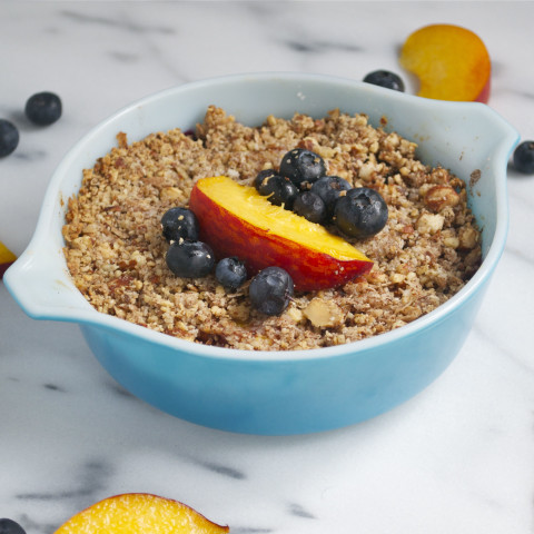 Peach Blueberry Crisp for Two
