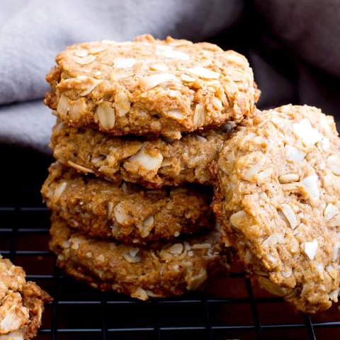 Peanut Butter Coconut Oatmeal Cookies (Vegan, Gluten Free, Dairy-Free, Whol