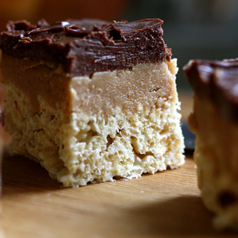 Peanut Butter Fudge Rice Krispies Treats