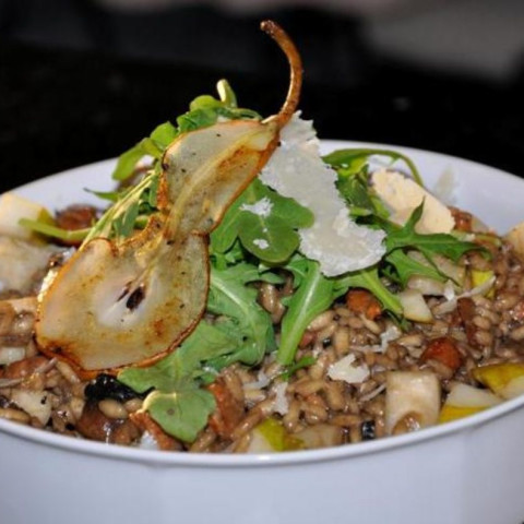 Pear and Sausage Risotto