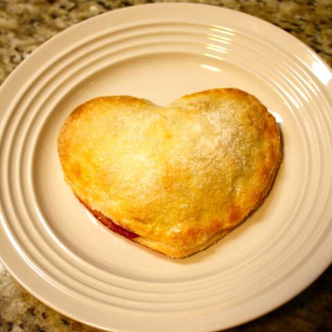 Pear-Raspberry Heart Pies