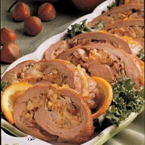 Pear-Stuffed Pork Tenderloin