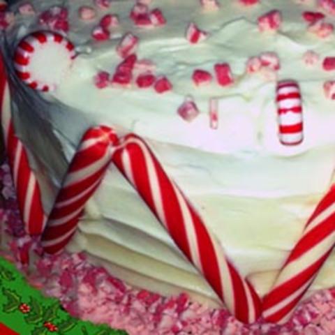 Peppermint Drum Cake