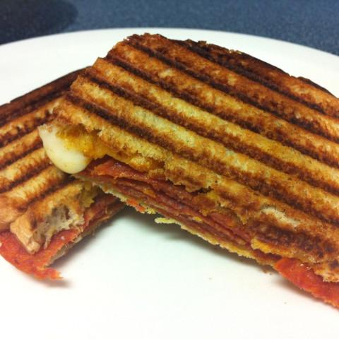 Pepperoni Panini Sandwich
