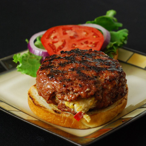 Pimento Cheese Stuffed Burger