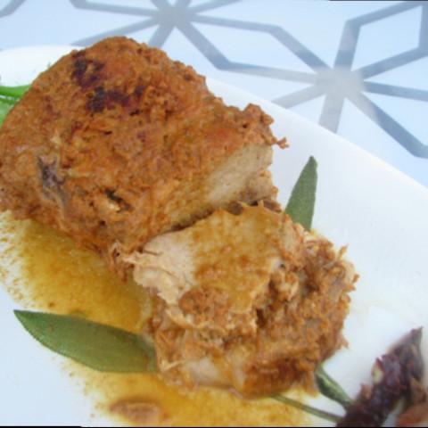 Pork Loin Braised in Milk Bolognese Style